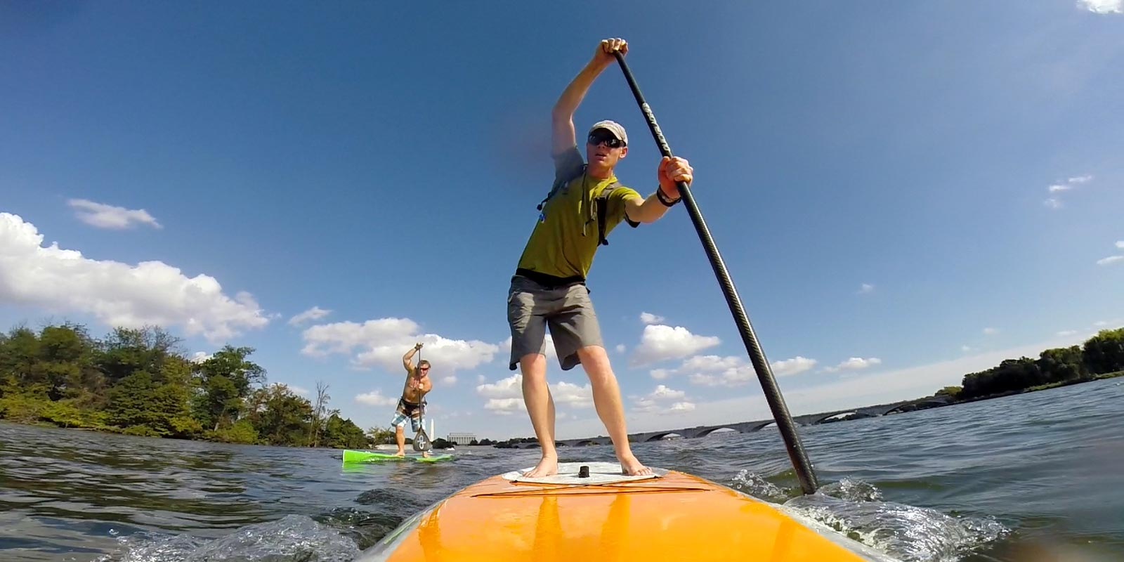 Stand up paddle race training Georgetown Washington DC