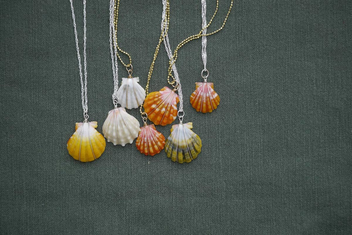 sunrise shell pendants jewelry