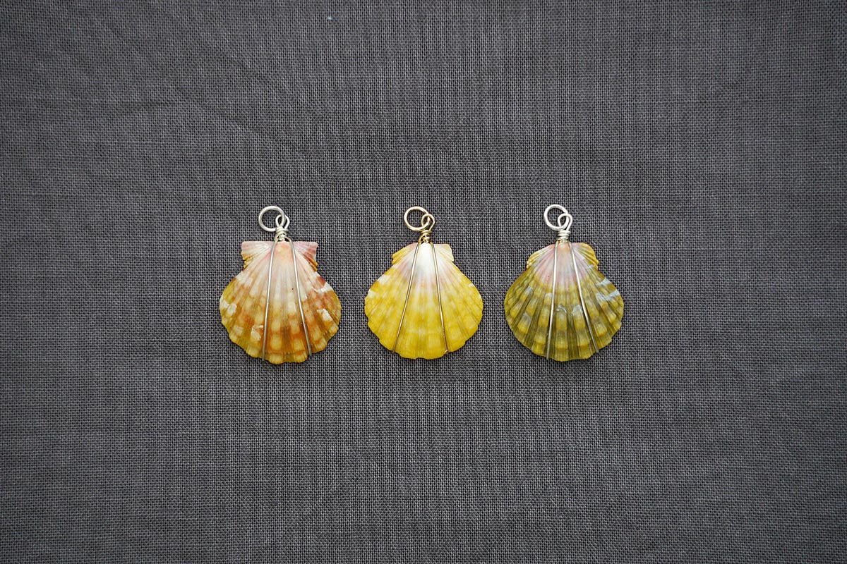 hawaiian sunrise shell pendants