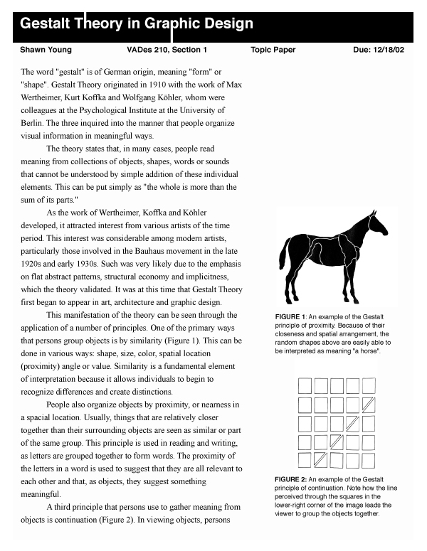 writing gestalt theory and graphic design shawn young gestalt theory in graphic design page 1 of 2